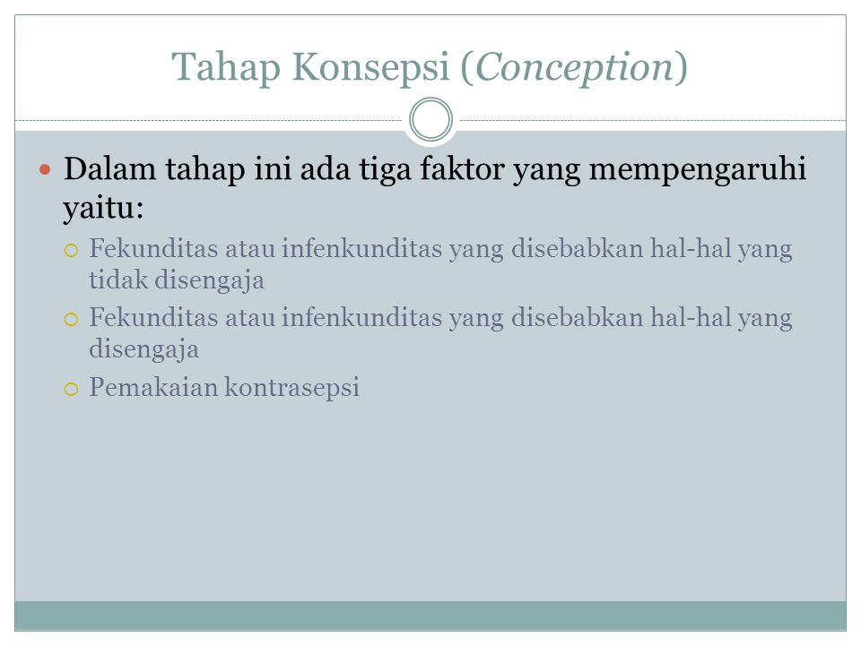Tahap Konsepsi (Conception)