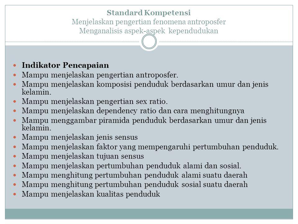 Mampu menjelaskan pengertian antroposfer.
