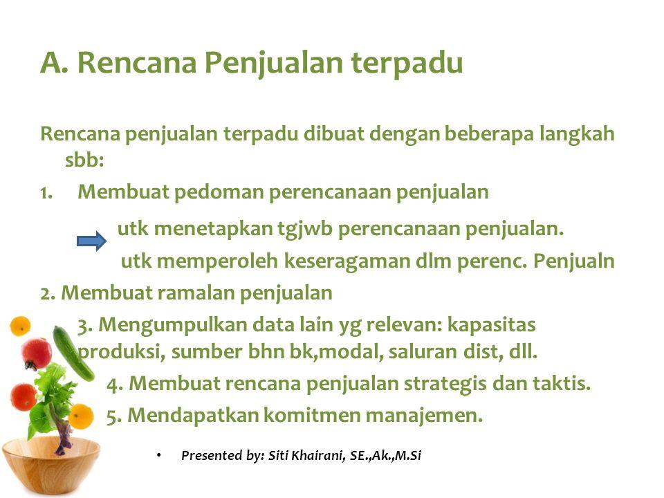A. Rencana Penjualan terpadu