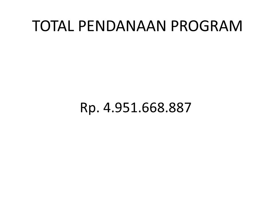 TOTAL PENDANAAN PROGRAM