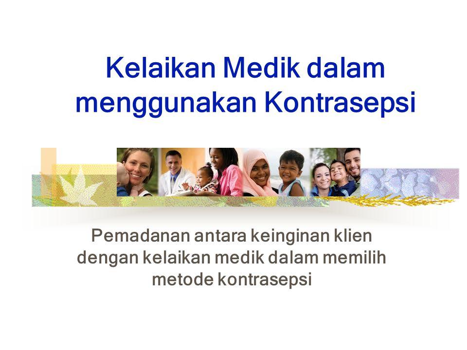 Kelaikan Medik dalam menggunakan Kontrasepsi