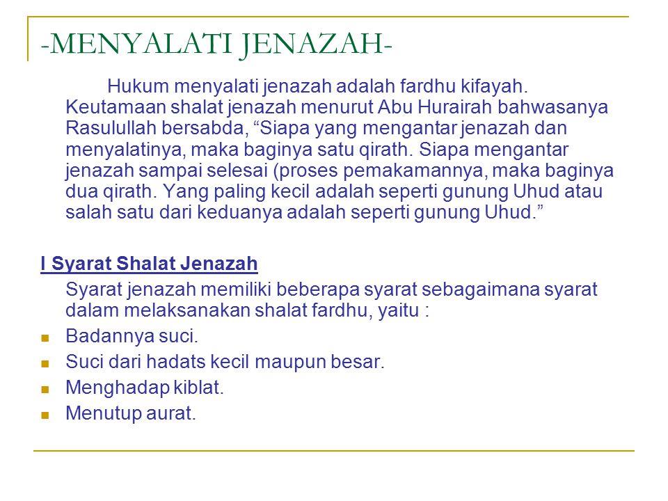 -MENYALATI JENAZAH-