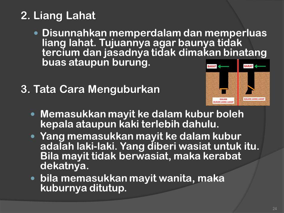 2. Liang Lahat 3. Tata Cara Menguburkan