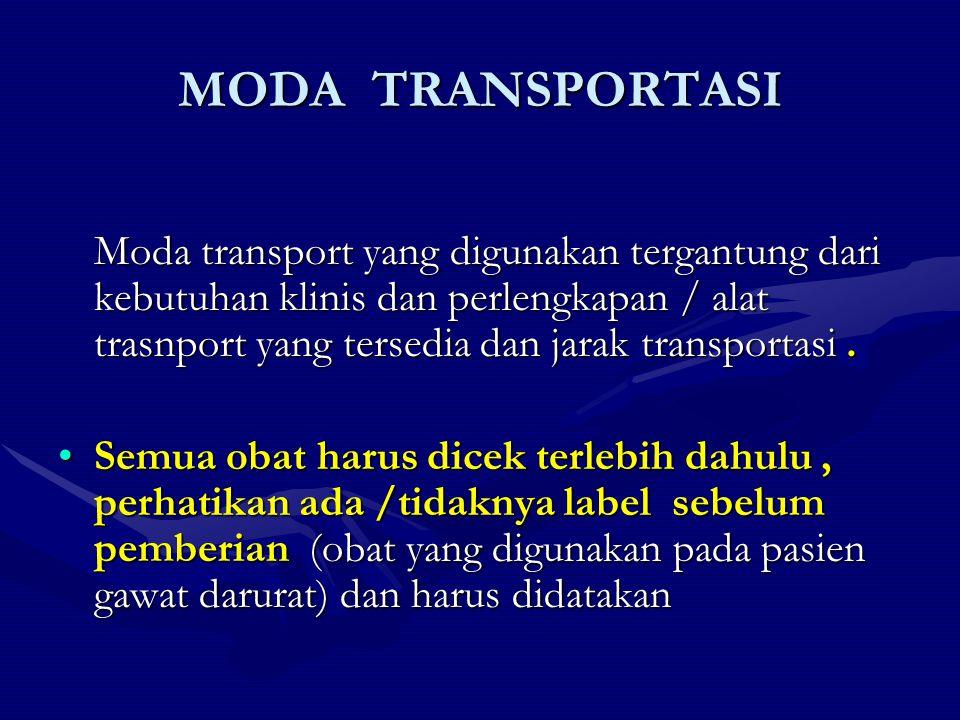 MODA TRANSPORTASI