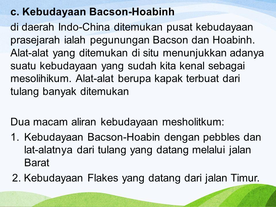 c. Kebudayaan Bacson-Hoabinh
