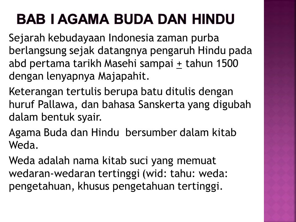 Bab I Agama buda dan hindu