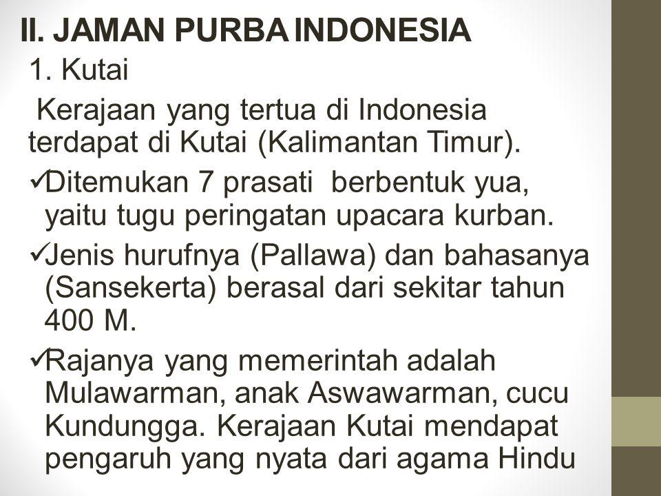 II. JAMAN PURBA INDONESIA