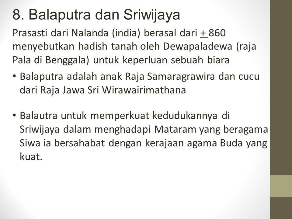 8. Balaputra dan Sriwijaya