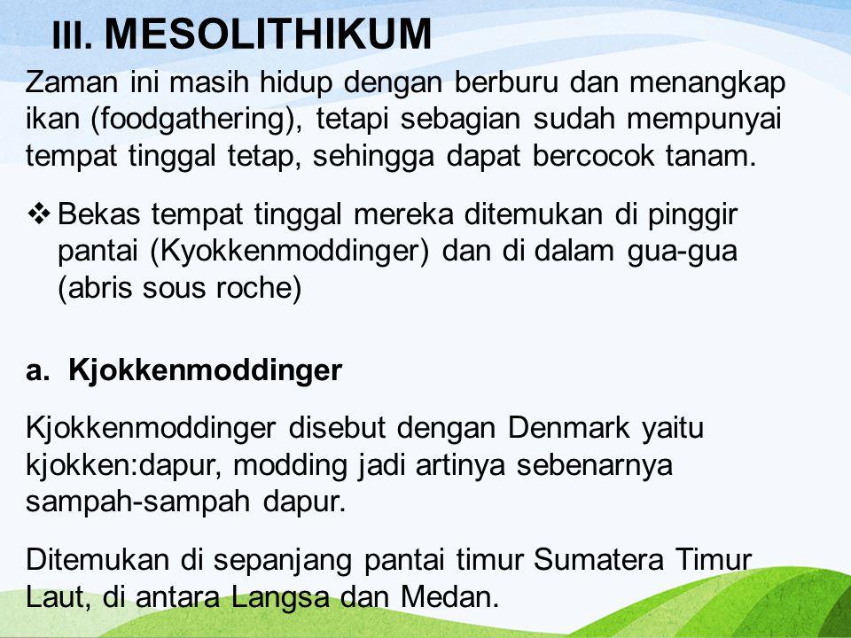 III. MESOLITHIKUM