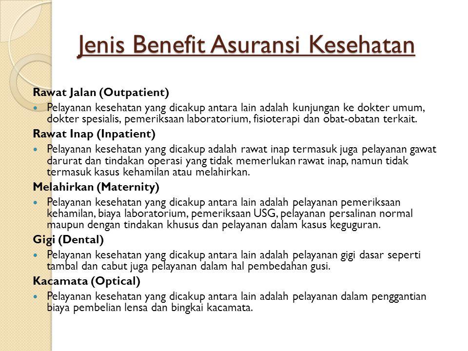 Jenis Benefit Asuransi Kesehatan
