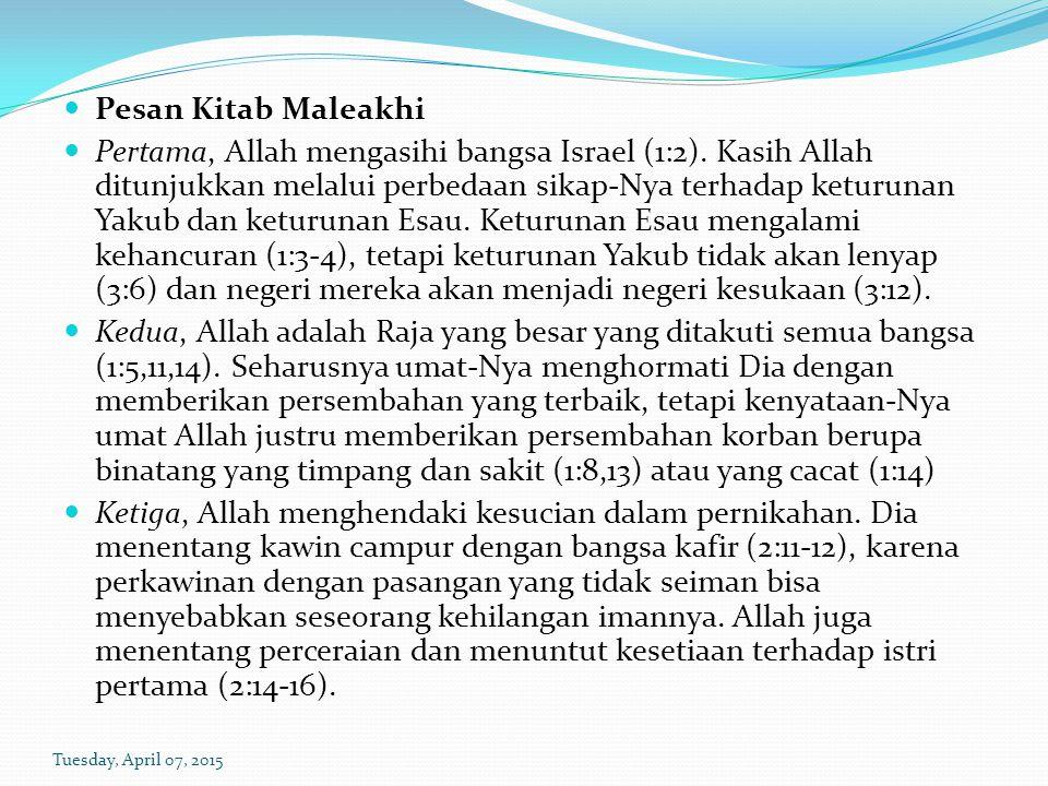 Pesan Kitab Maleakhi