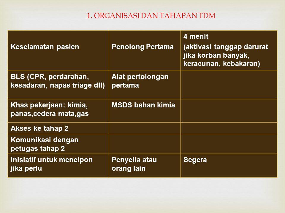 1. ORGANISASI DAN TAHAPAN TDM