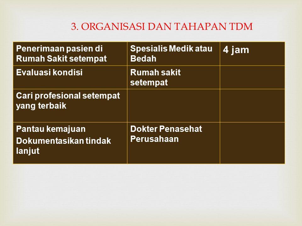 3. ORGANISASI DAN TAHAPAN TDM