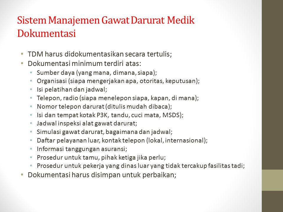 Sistem Manajemen Gawat Darurat Medik Dokumentasi