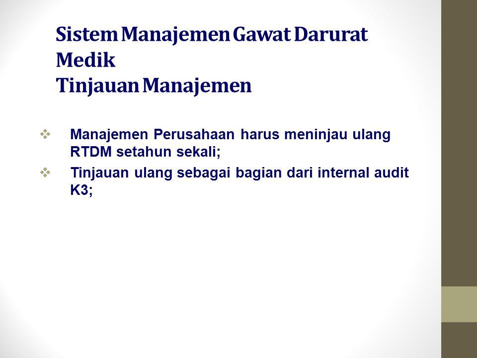 Sistem Manajemen Gawat Darurat Medik Tinjauan Manajemen