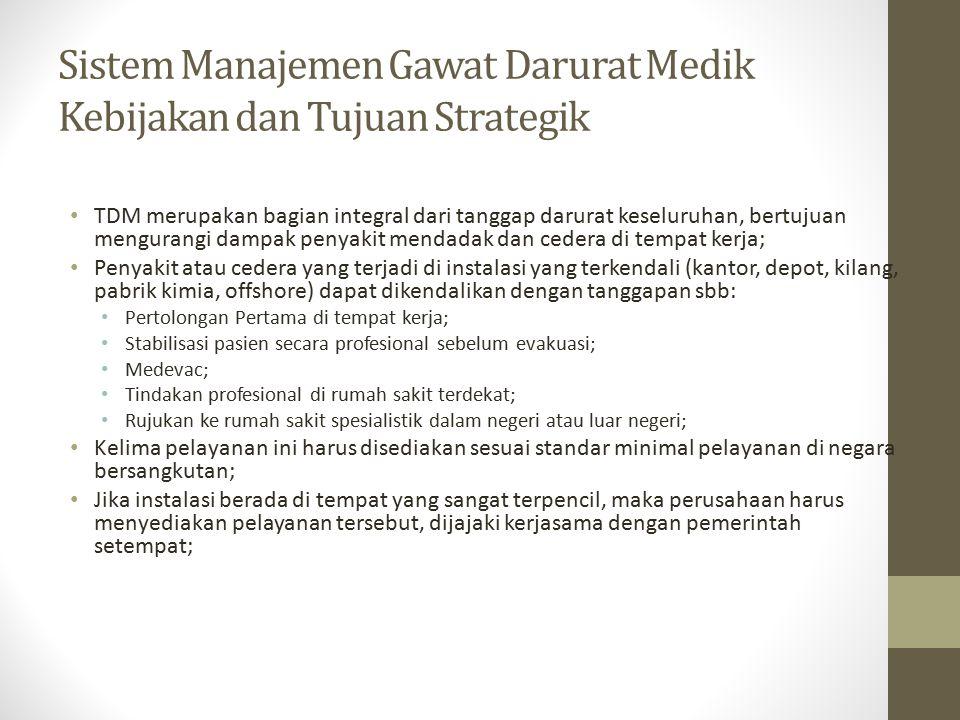 Sistem Manajemen Gawat Darurat Medik Kebijakan dan Tujuan Strategik