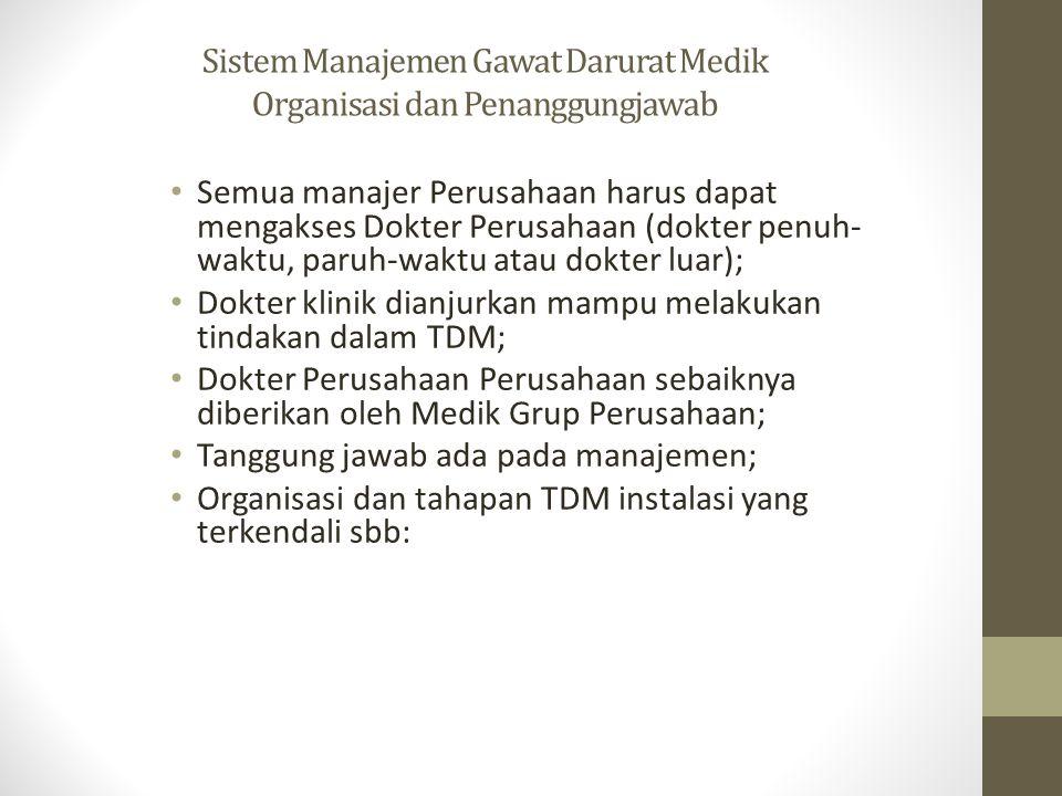 Sistem Manajemen Gawat Darurat Medik Organisasi dan Penanggungjawab