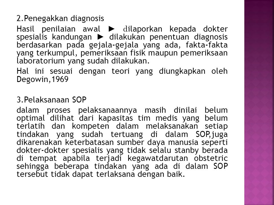 2.Penegakkan diagnosis