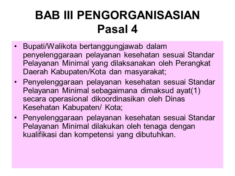 BAB III PENGORGANISASIAN Pasal 4