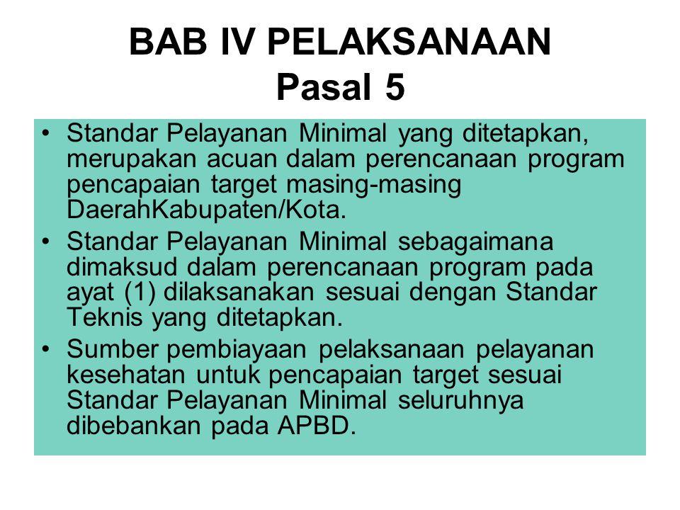 BAB IV PELAKSANAAN Pasal 5