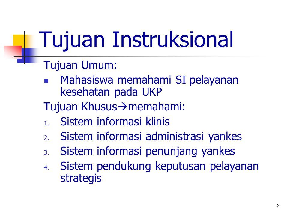 Tujuan Instruksional Tujuan Umum: