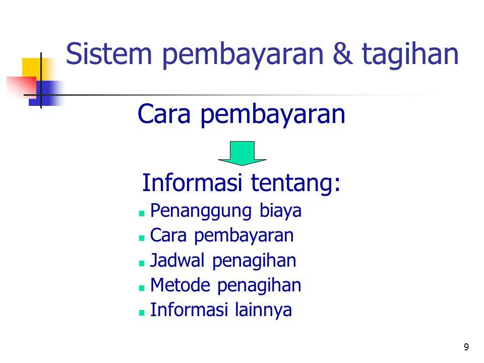 Sistem pembayaran & tagihan