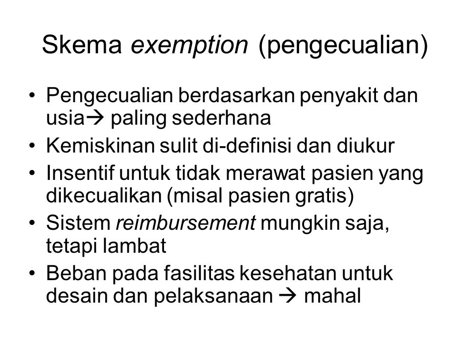 Skema exemption (pengecualian)