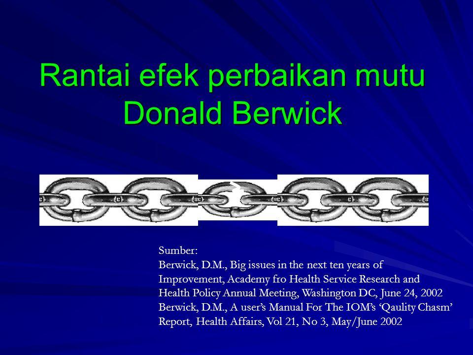 Rantai efek perbaikan mutu Donald Berwick