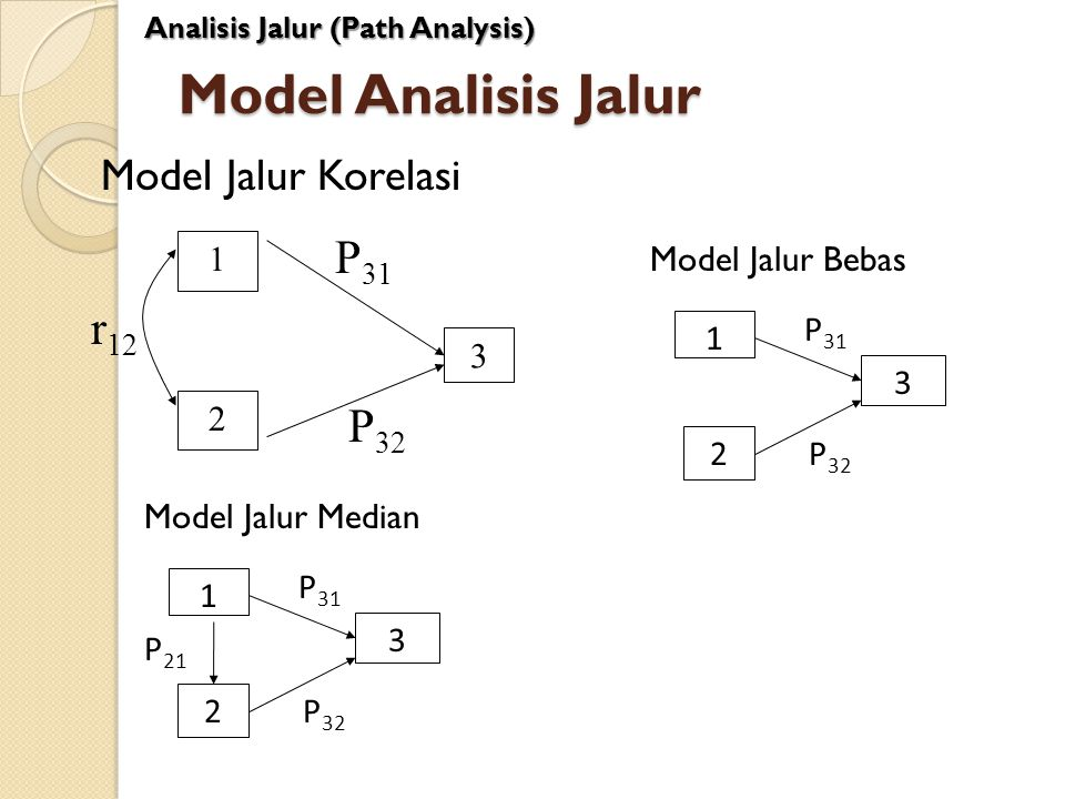 Model Analisis Jalur P31 r12 P32 Model Jalur Korelasi 1