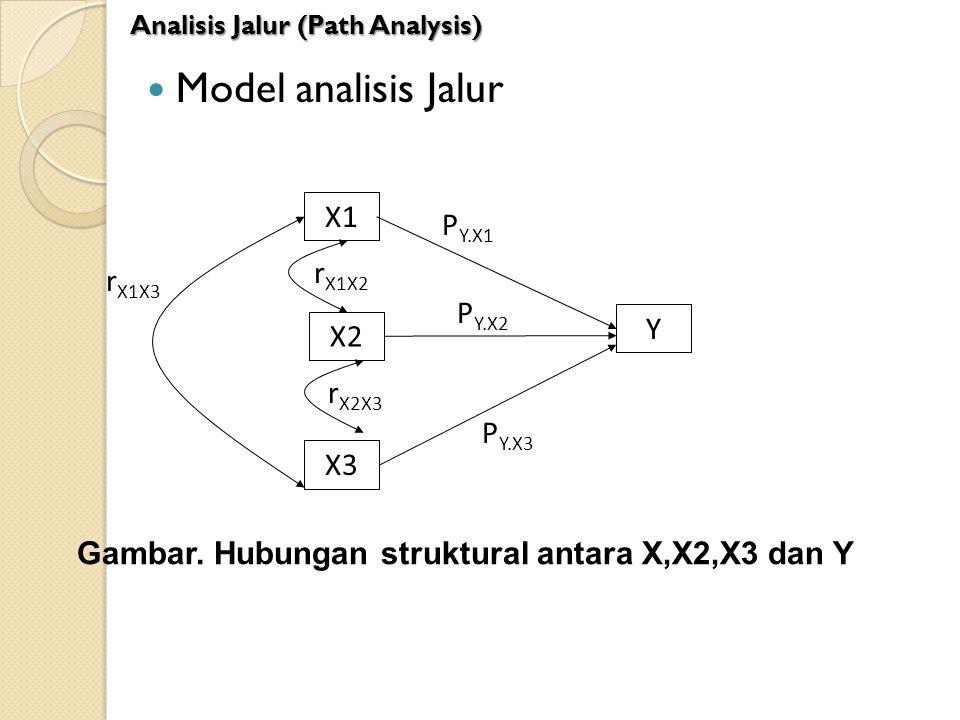 Model analisis Jalur X1 PY.X1 rX1X2 rX1X3 PY.X2 Y X2 rX2X3 PY.X3 X3