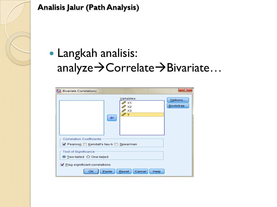 Langkah analisis: analyzeCorrelateBivariate…