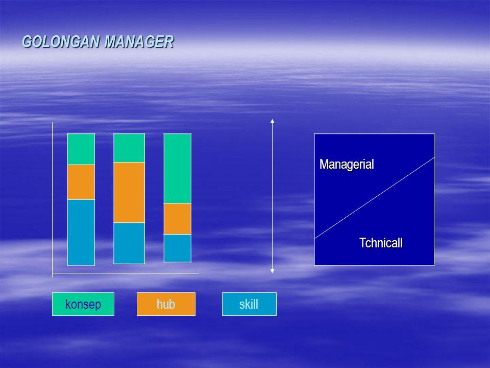 GOLONGAN MANAGER Managerial Tchnicall konsep hub skill