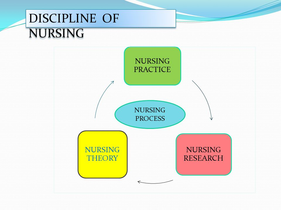 DISCIPLINE OF NURSING NURSING PRACTICE NURSING RESEARCH NURSING THEORY