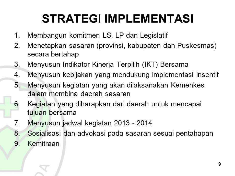 STRATEGI IMPLEMENTASI
