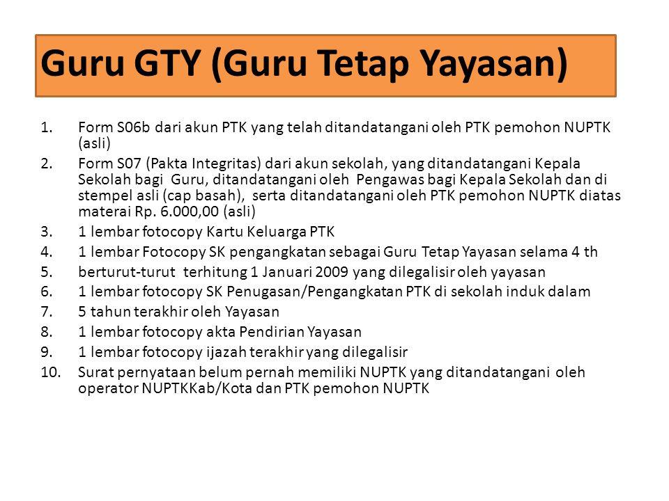 Guru GTY (Guru Tetap Yayasan)
