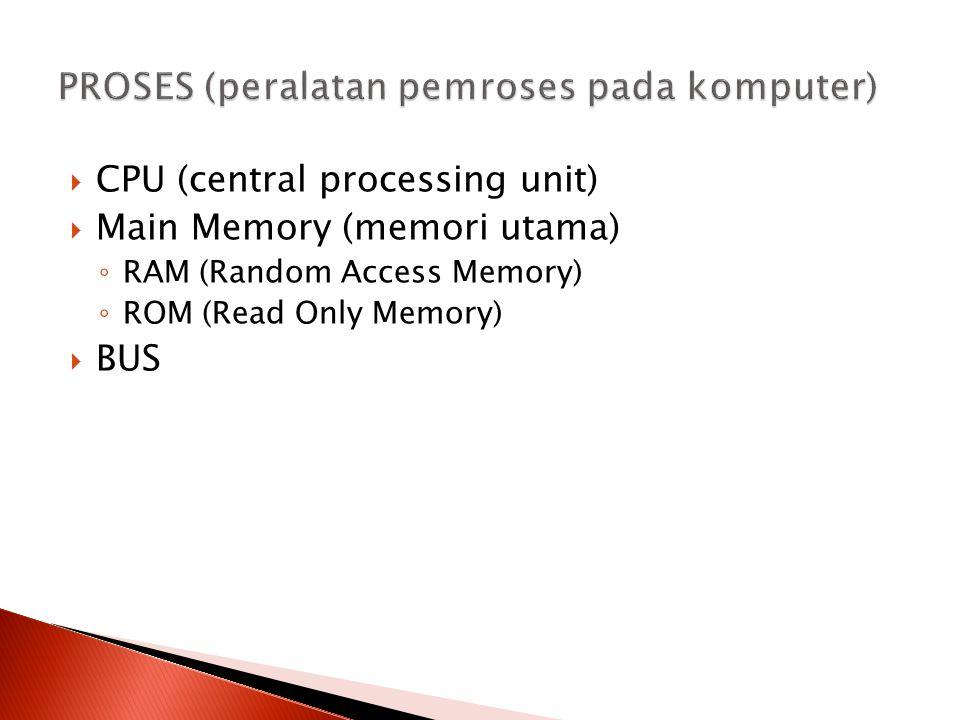 PROSES (peralatan pemroses pada komputer)