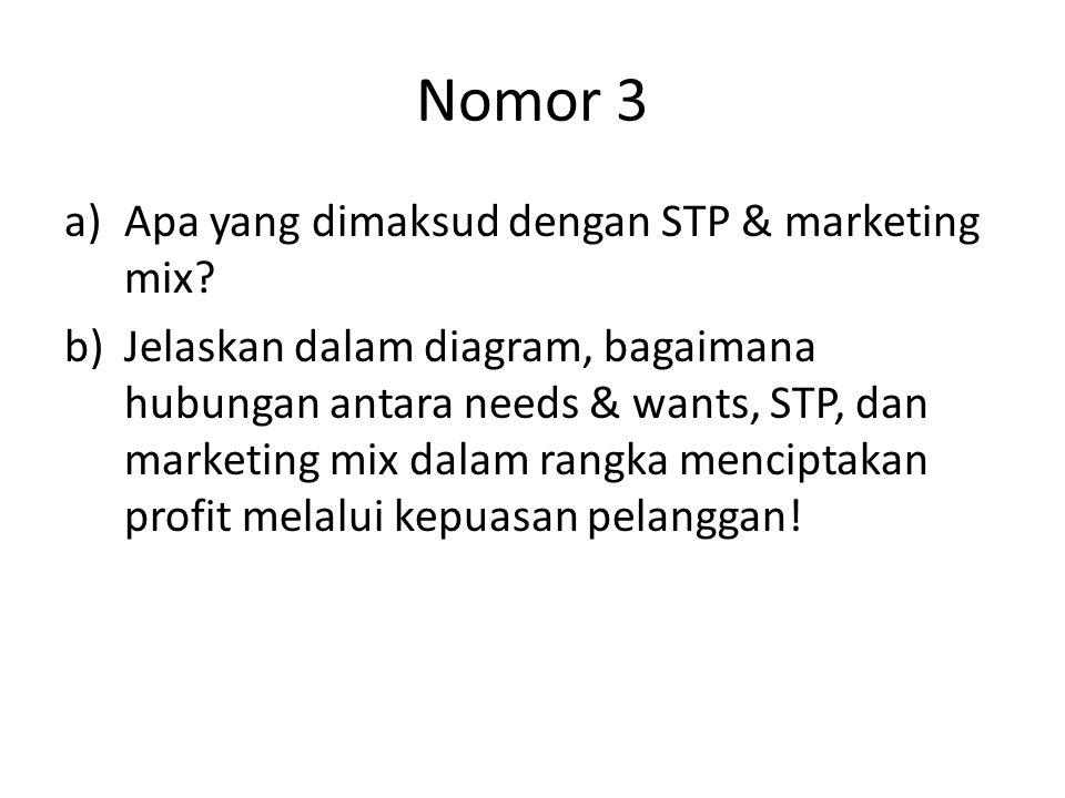 Nomor 3 Apa yang dimaksud dengan STP & marketing mix