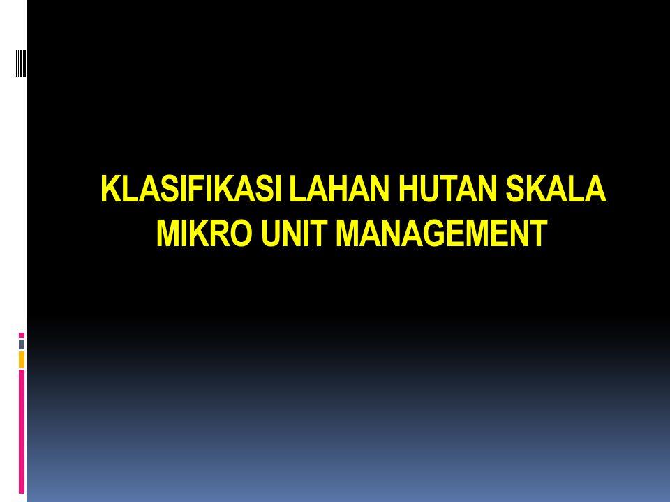 KLASIFIKASI LAHAN HUTAN SKALA MIKRO UNIT MANAGEMENT