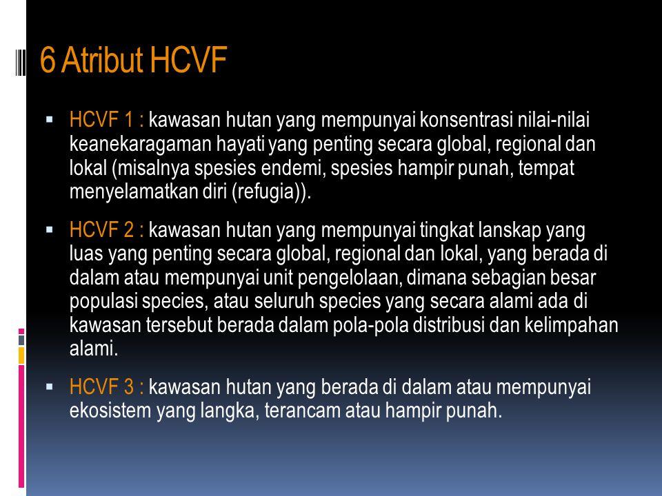 6 Atribut HCVF