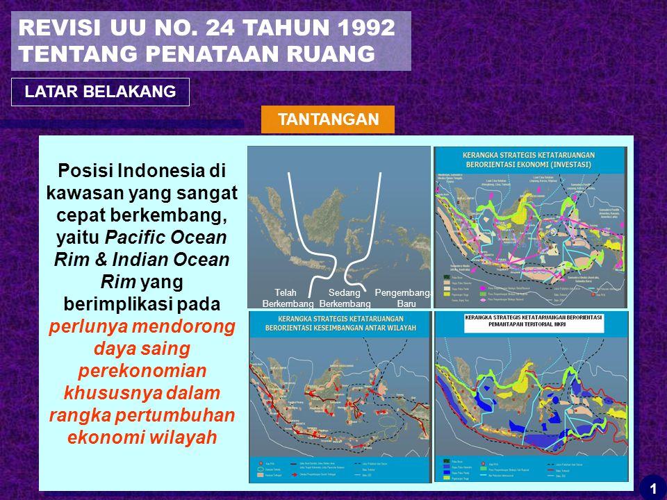 REVISI UU NO. 24 TAHUN 1992 TENTANG PENATAAN RUANG