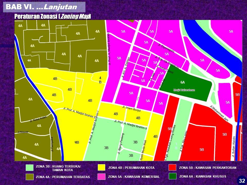 BAB VI. …Lanjutan Peraturan Zonasi (Zoning Map) 32 28 4A 4A 4A 5A 5A