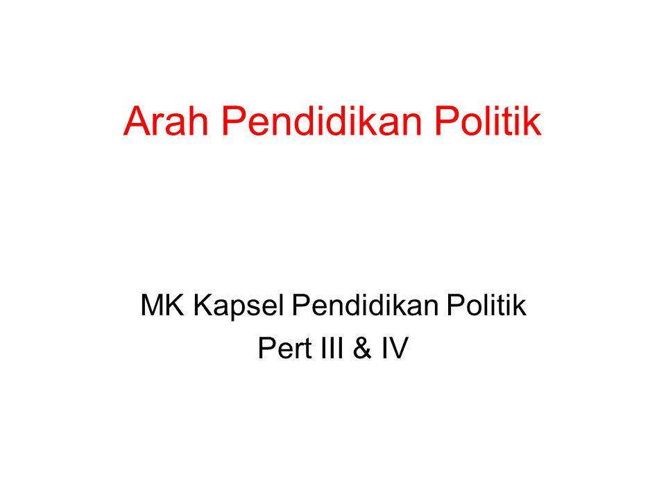 Arah Pendidikan Politik