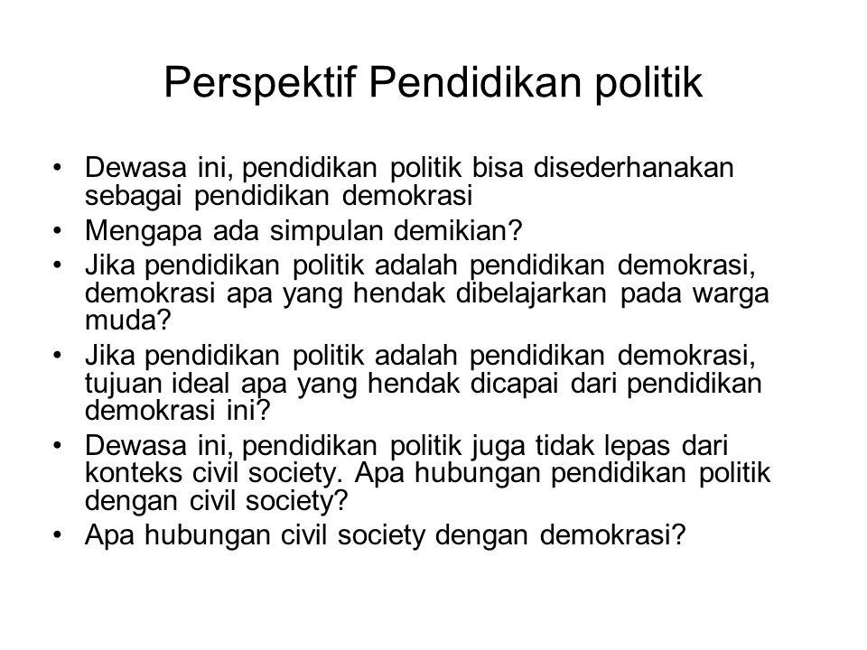 Perspektif Pendidikan politik