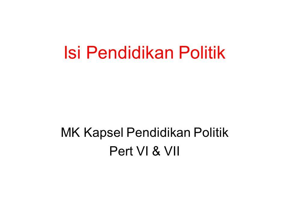 Isi Pendidikan Politik