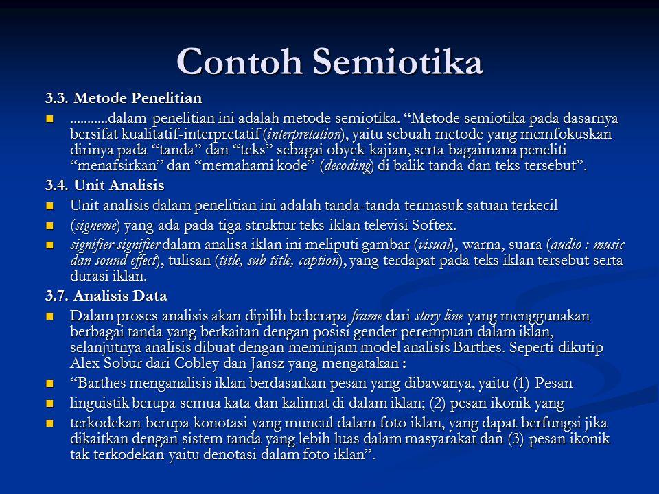 Contoh Semiotika 3.3. Metode Penelitian