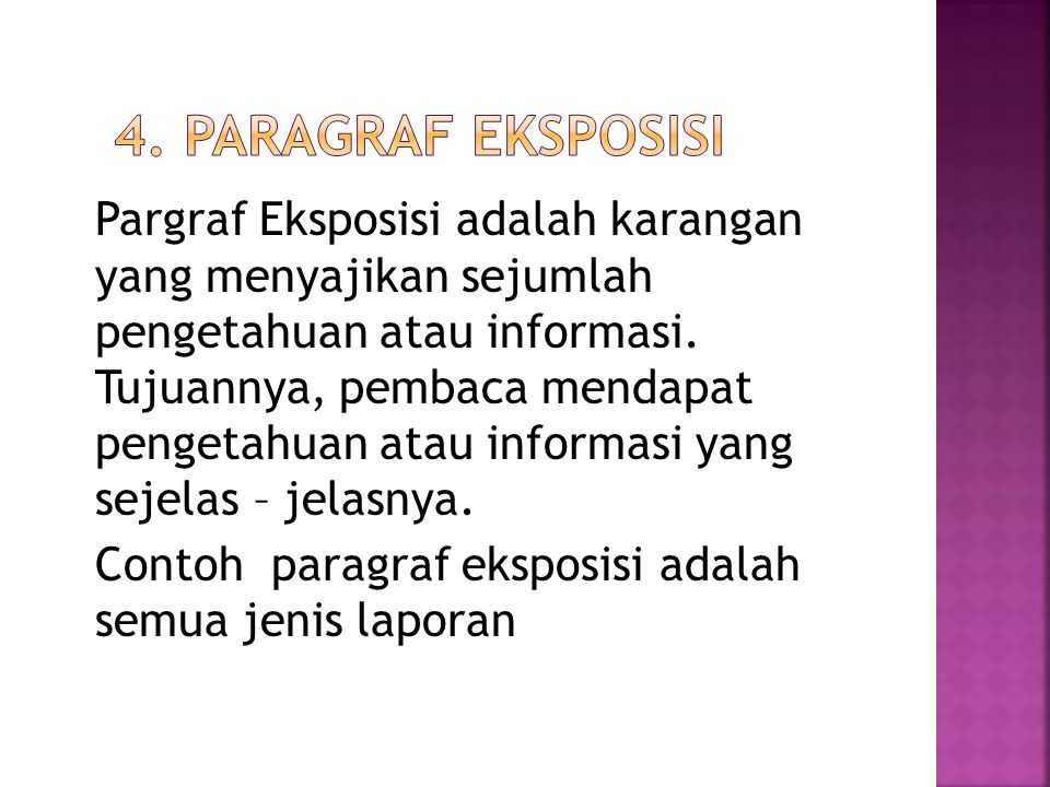 4. Paragraf Eksposisi