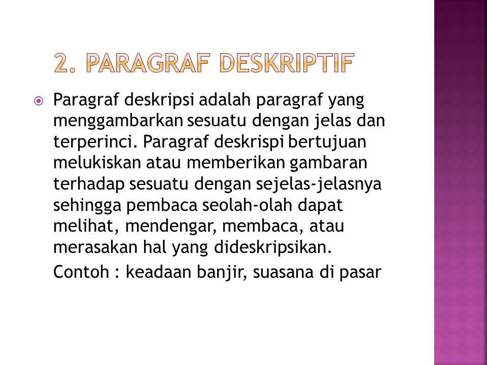 2. Paragraf Deskriptif