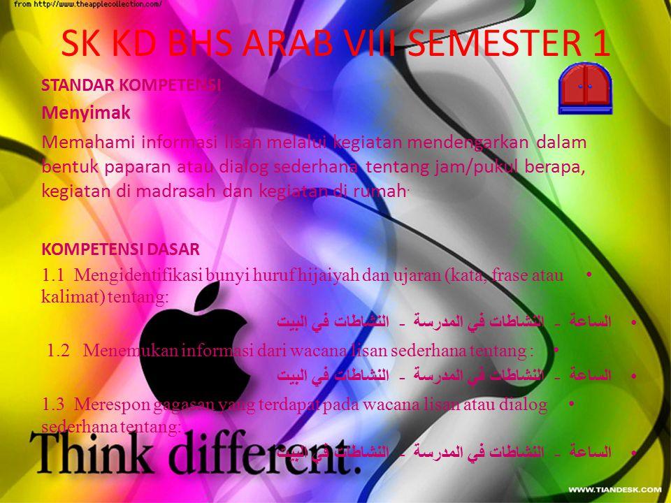SK KD BHS ARAB VIII SEMESTER 1