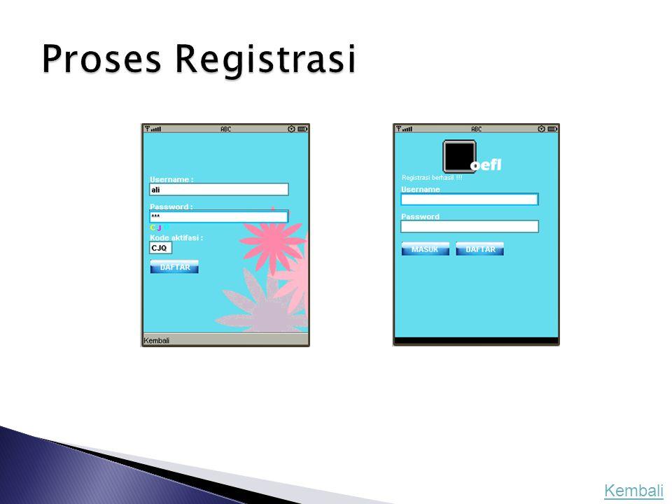Proses Registrasi Kembali