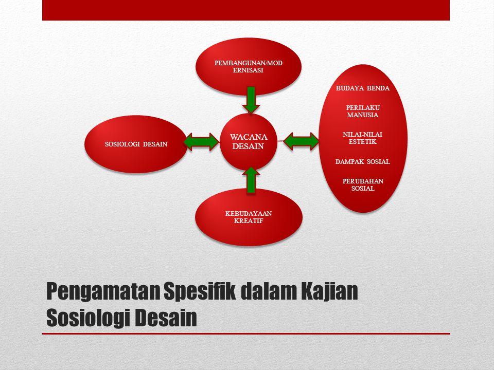 Pengamatan Spesifik dalam Kajian Sosiologi Desain